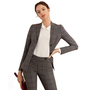 Brooks Brothers Women's Red Fleece Two Button Blazer