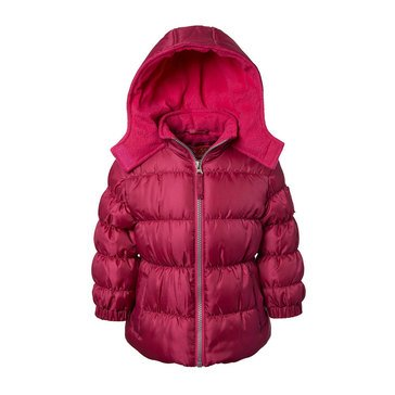 Pink Platinum Baby Girls' Hooded Puffer Coat