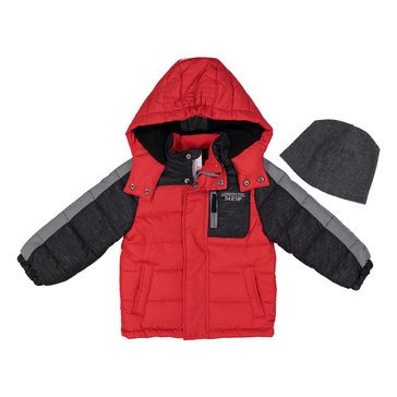 London Fog Baby Boys' Puffer Coat