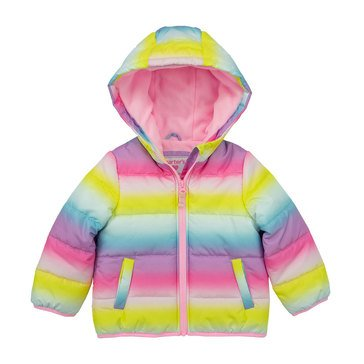 Carters Baby Girls' Printed Puffer Jacket