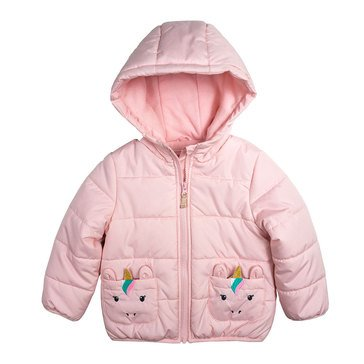 Carters BAby Girls' Unicorn Quilted Puffer Jacket