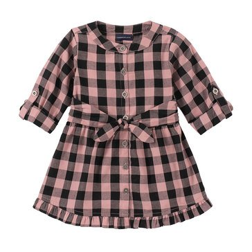 Calvin Klein Baby Girls' Flannel Plaid Dress