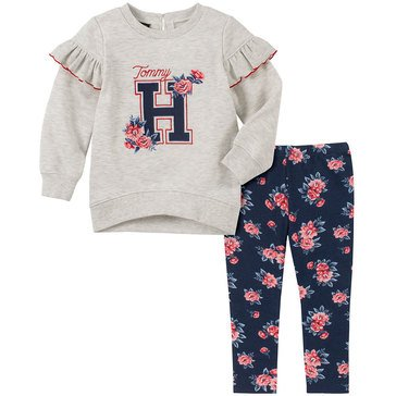 Tommy Hilfiger Baby Girls' Heather Fleece Tunic + Jersey Legging Set