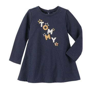 Tommy Hilfiger Baby Girls' Foil Printed Stretch French Terry Dress