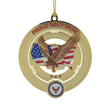 Chemart USN Proud Navy Mom Ornament