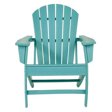 Signature Design by Ashley Adirondack Chair Turquoise Sundown Treasure