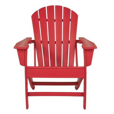 Signature Design by Ashley Adirondack Chair Red Sundown Treasure