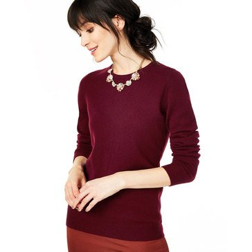 Charter Club Womens Cashmere Crew Neck