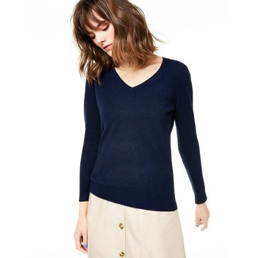 Charter Club Womens Cashmere V-Neck