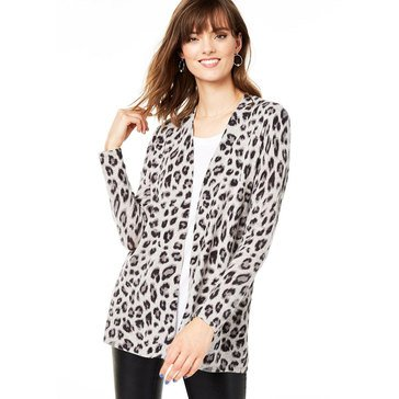 Charter Club Women's Cashmere Cheetah Printed Cardigan