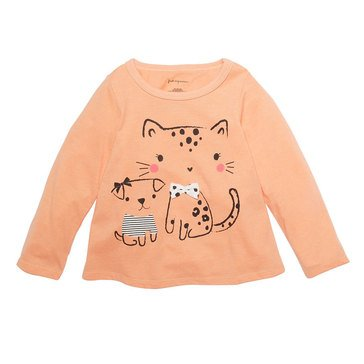 First Impressions Baby Girls' Dog and Cat Tee