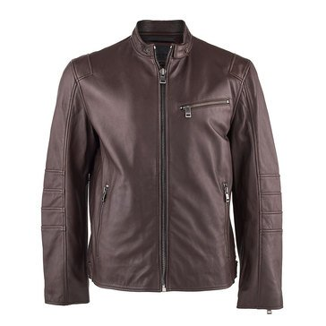 Andrew Marc Men's Leather Weston Moto Jacket