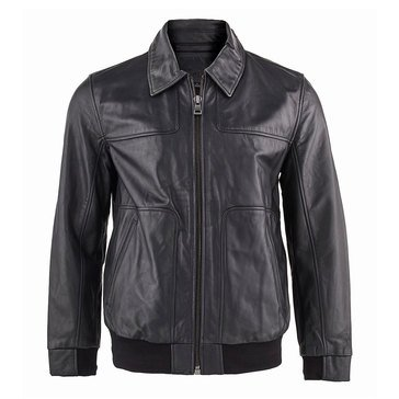 Andrew Marc Men's  Leather Vaughn 27 Bomber Jacket