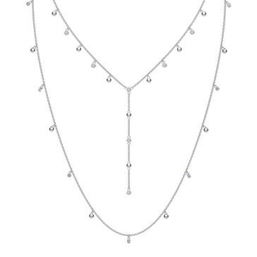 Swarovski Penélope Cruz Moonsun Necklace, Long, White, Rhodium Plated