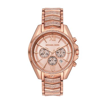 Michael Kors Women's Whitney Rose Gold Bracelet Watch, 44mm