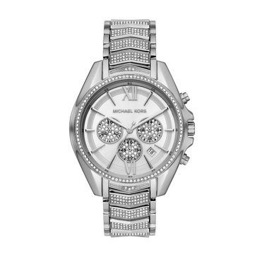 Michael Kors Women's Whitney Silver Bracelet Watch, 44mm
