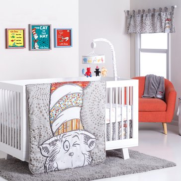 Dr. Seuss™ Peek-a-Boo Cat in the Hat 4-Piece Crib Bedding Set