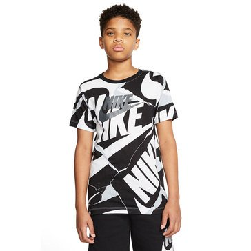 Nike Big Boys' Allover Printed Mark Tee