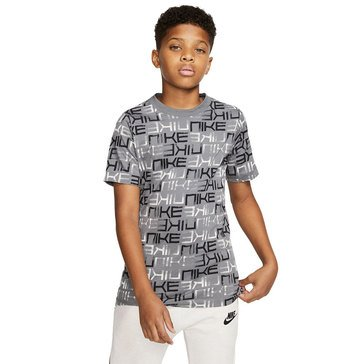Nike Big Boys' Allover Printed Repeat Tee