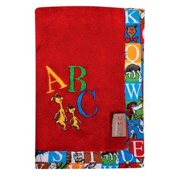 Dr. Seuss™ Alphabet Seuss Framed Coral Fleece Receiving Blanket