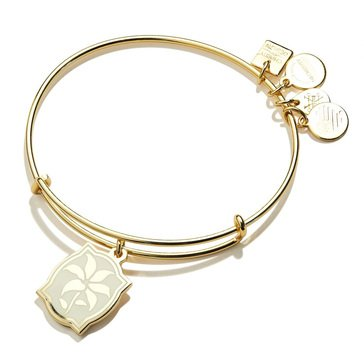 Alex and Ani Color Infusion Lily Bangle, Shiny Gold Finish