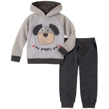 Kids Headquarters Baby Boys' My Puppy Pal Dog Face Raglan Hoodie Jogger Set