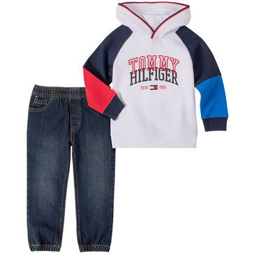 Tommy Hilfiger Baby Boys' Hoodie Fleece Twill Jogger Set