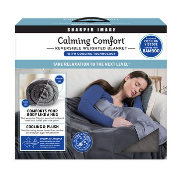 As Seen On TV Calming Comfort Reversible 12-Lb Weighted Blanket with Cooling