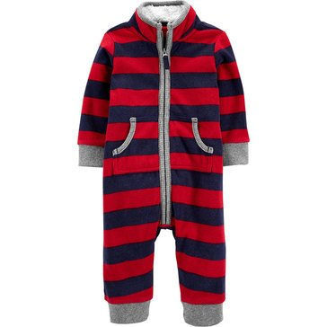 Carters Baby Boys' Moose Fleece 1-Piece Jumpsuit