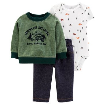 Carter's Baby Boys' Mountain Cardigan 3-Piece Set