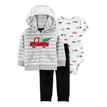 Carter's Baby Boys' Truck Cardigan 3-Piece Set