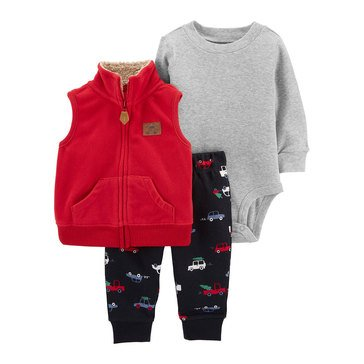 Carter's Baby Boys' Auto Vest 3-Piece Set