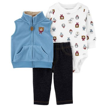 Carter's Baby Boys' Holiday Vest 3-Piece Set
