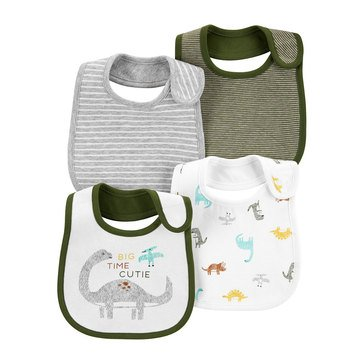 Carters Baby Boys' Dino Bib Set, 4 Pack