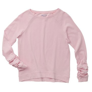 Yarn & Sea Big Girls' Rouched Sleeve Pullover