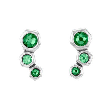 UNOde50 My Squad No Honey Green Crystal Stud Earrings