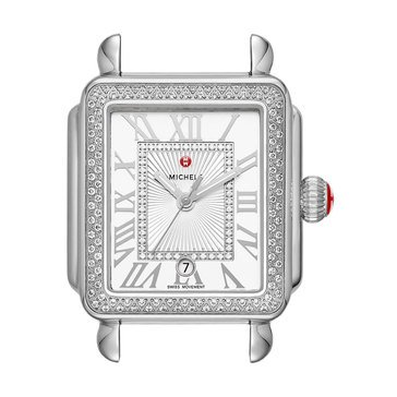 Michele Deco Madison Mid Stainless Steel Diamond Watch, 31mm