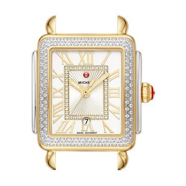Michele Deco Madison Mid Two Tone Diamond Watch, 31mm