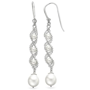 Imperial Pearl Imperial Lace Freshwater Cultured Pearl Drop Earrings, Sterling Silver