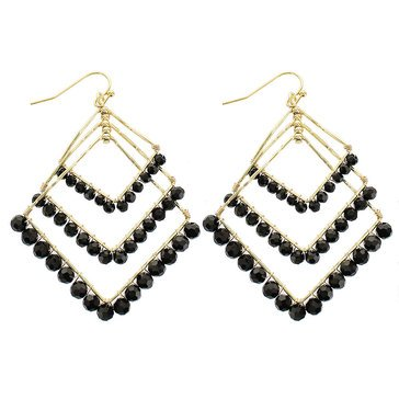 Panacea Crystal Layered Square Earrings
