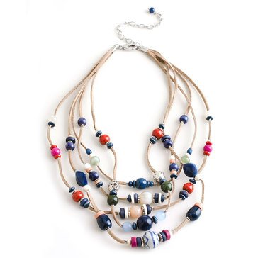 Chico's Women's Beaded Illusion Necklace