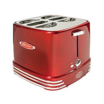 Nostalgia 4-Slot Retro Series Pop-Up Hot Dog Toaster