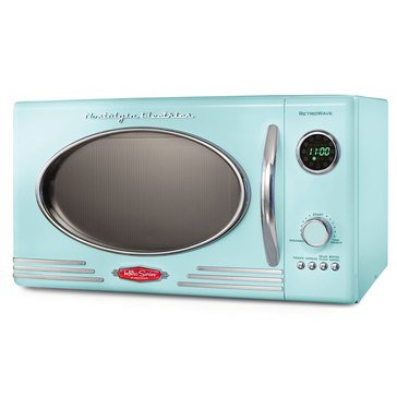 Nostalgia Retro Series 0.9-Cubic Foot Countertop Microwave Oven