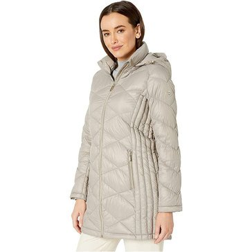 Michael Kors Women's Packable Down WLKR DIAMND Quilted Jacket with Hood