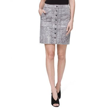 White House Black Market Women's Snake Printed Skirt