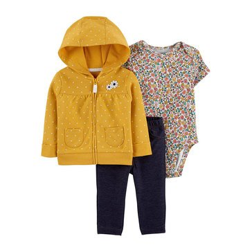 Carter's Baby Girls' 3-Piece Floral Cardigan Set