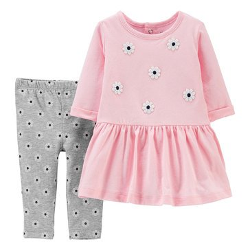 Carter's Baby Girls' Daisies Dress & Leggings Set
