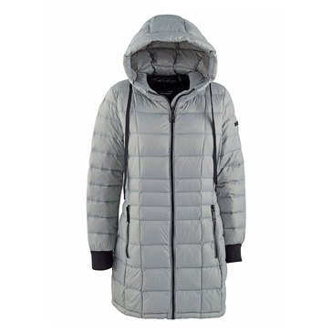 Calvin Klein Women's Packable Down Jacket with Hood