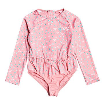 Roxy Girls Splash Party Longsleeve Onesie Swimsuit