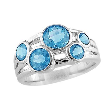 Swiss Blue Topaz Ring, Sterling Silver